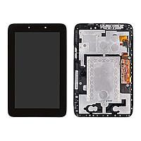 Дисплей для Lenovo A2107A IdeaTab + touchscreen. черный. с передней панелью