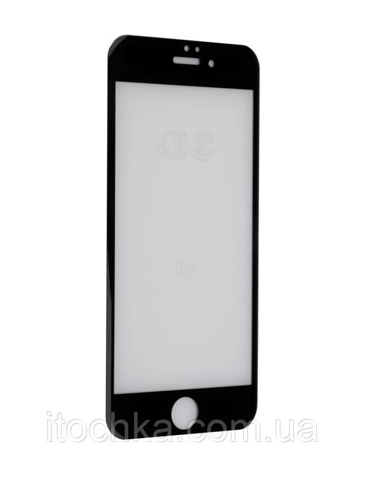 Защитное стекло 9D на Iphone 7 Black