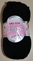 Пряжа для ручного вязания. Lanoso, Beby wool (подходит для детей). Цвет: Черный.