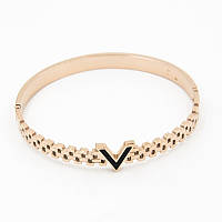 Браслет-кольцо V 0231 из ювелирной стали в золотистом цвете