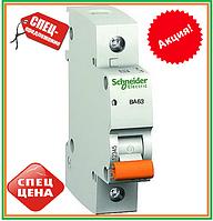 Автомат  Schneider Electric Домовой  ВА63 1п 25 А С Автоматический выключатель однополюсный 1Р