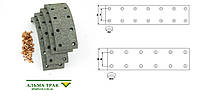 Комплект тормозных накладок WVA 13533/13532 + Заклёпки MERCEDES 209, 230, 240, 280, 307, 308, 309 (2й ремонт)