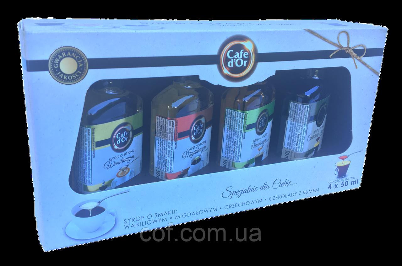 Набор сиропов для кофе Cafe d'Or 4x50мл