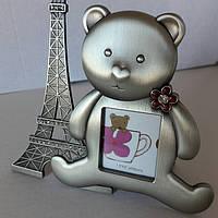 """Детская рамочка """"Мишка в Париже"""" (13*12 см)"""