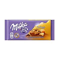 Молочный шоколад Milka Collage Caramel, 100 гр.