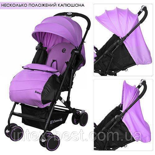 Детская прогулочная коляска Solo M 3428-9 (Фиолетовая)