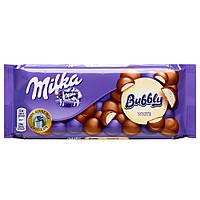 Шоколад молочный Milka Bubbly White  (с белым шоколадом), 100 гр
