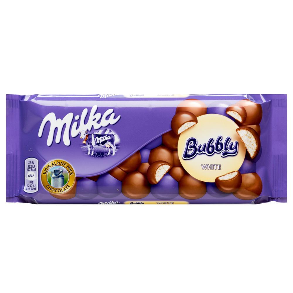 Шоколад молочный Milka Bubbly White  (с белым шоколадом), 100 гр - Продукты из Италии - интернет магазин «Market IT» в Львове