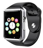 Смарт годинник - розумні годинник Smart Watch A1 СРІБЛЯСТО-ЧОРНІ SKU0000764, фото 1