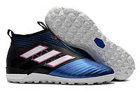 Футбольные сороконожки adidas ACE Tango 17+ Purecontrol TF Core Black/White/Blue, фото 1
