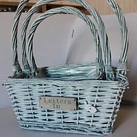 Набор декоративных корзин для цветов, упаковки подарка, хранения бытовых мелочей (28*18*34 см)