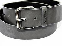 Ремень кожаный широкий  для джинсов Tom Tailor  Германия серый