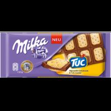 Молочный шоколад Milka с печеньками Tuc, 100 гр.