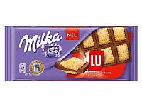 Молочный шоколад Milka с печеньками Lu, 100 гр.