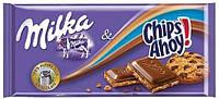 Молочный шоколад Milka Chips Ahoy с печеньем, 100 гр.