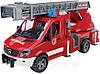 Іграшка Bruder Пожежний МВ Sprinter з драбиною (водяна помпа,світло і звук) 1:16