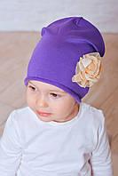 Шапка для маленькой девочки Стейси фиолетовый