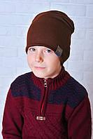 Шапка для мальчика Жак коричневый