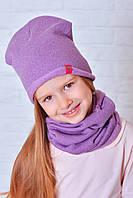 Котоновая шапочка для девочки Мадлен фиолетовый