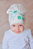 Красивая детская шапочка Долли молочный