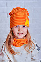 Шапка и хомут набор Джей оранжевый