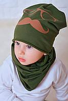 Хомут и шапочка Ник зеленый