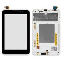 Дисплей для Lenovo A3500 IdeaTab + touchscreen. черный. с передней панелью белого цвета
