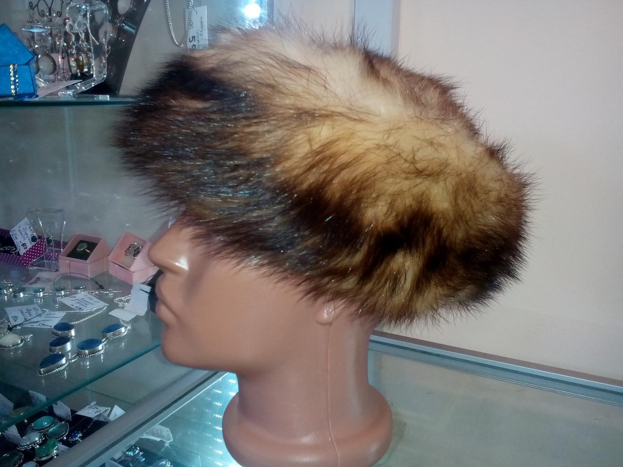 Меховая шапка из хорька
