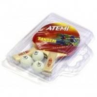 Набор для настольного тенниса Atemi Tandem (case) (2р+3м)