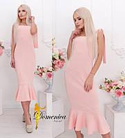Платье утяжка Ткань дайвинг По спинке потайная молния С и М(21060) 44, розовый
