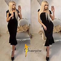Платье утяжка Ткань дайвинг По спинке потайная молния С и М(21060) 44, черный