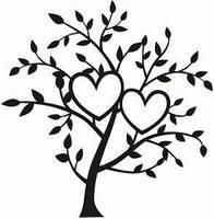 Виниловая наклейка - свадебное дерево