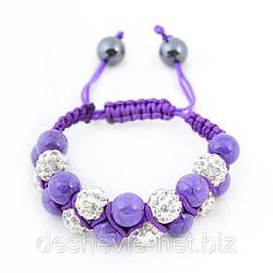 Браслет шамбала женский 05brw-purple купить браслеты шамбала оптом очень дешево