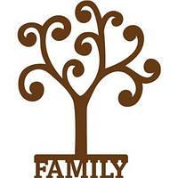 Виниловая наклейка - (FAMILY дерево)