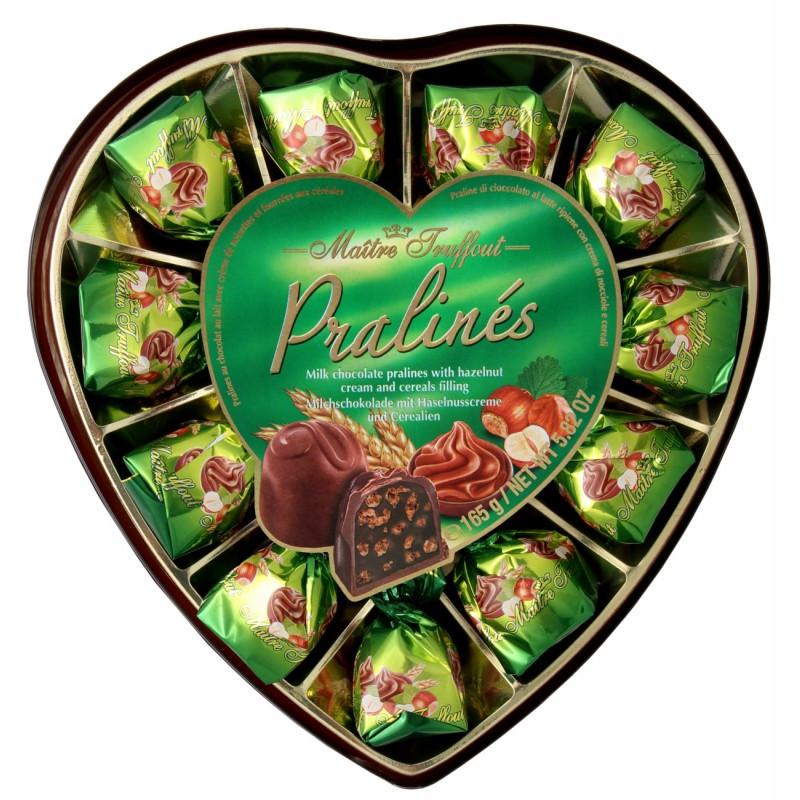 Конфеты Maitre Truffout Chocolate Сердце, 165 гр.