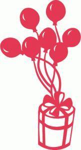 Виниловая наклейка - Подарок с шариками