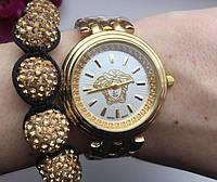 Женские часы Versace (белый циферблат)
