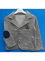Модный трикотажный пиджак для мальчика 104-116