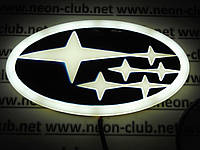 Светящаяся эмблема 4D Subaru/ Субару
