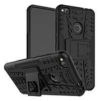 Чехол Huawei P8 Lite 2017 / P9 Lite 2017 / PRA-LX1 / Honor 8 Lite противоударный бампер черный