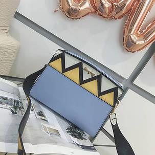 Жіноча сумочка в ромбик, фото 2