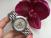 Женские часы Versace (стальные, белый циферблат)