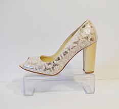 Туфли женские с открытыми пальчиками Livier, фото 2