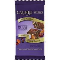 Молочный шоколад Cachet «Raisins & Almonds», 300г