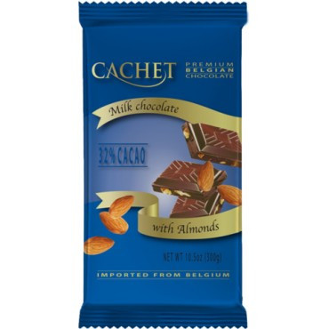 Молочный шоколад Cachet «Milk Chocolate & Almonds», 300г