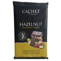 Черный шоколад Cachet «Hazelnut» с цельным фундуком, 300г