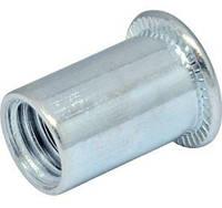 Гайка клепальная открытая с плоской головкой М4 0,5-2,5 мм D6