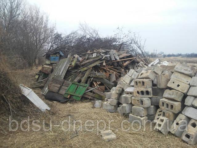 Демонтаж постройки и вывоз мусора