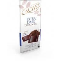 Черный шоколад Cachet Extra Dark (70%), 100г