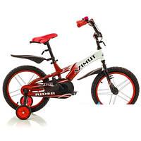 Детский двухколесный велосипед  Rider красный  14 дюймов